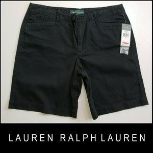 Lauren Ralph Lauren Woman Flat Front Gray Shorts